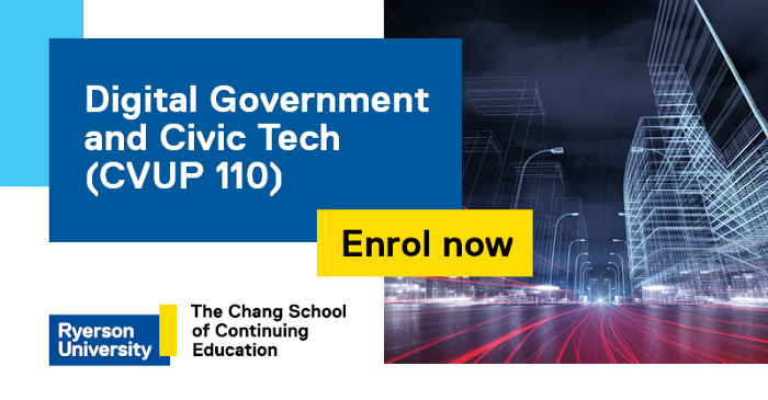 The following post is a reflection on the course by Ricki-Lee Bloom, a member of the Government of Canada's Policy Community Partnership Office. Ricki was a student in Digital Government and Civic Tech in 2018.